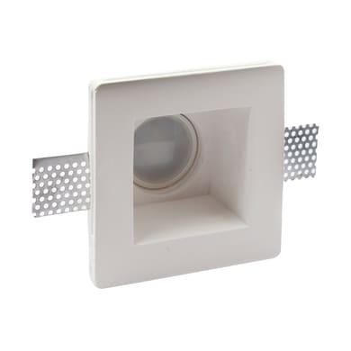 Faretto fisso da incasso quadrato Square  in Gesso bianco, 12xGU10 0xMAX50W IP20 LEXMAN