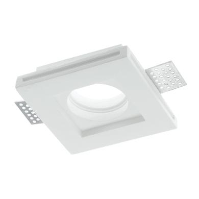 Faretto fisso da incasso quadrato Spirit-q1 in gesso, bianco, 10xGU10 MAX42W IP20 1 pezzi