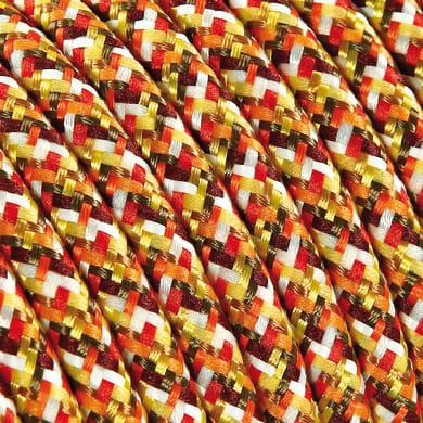 Cavo tessile MERLOTTI 2 fili x 0,75 mm² arancione 5 metri