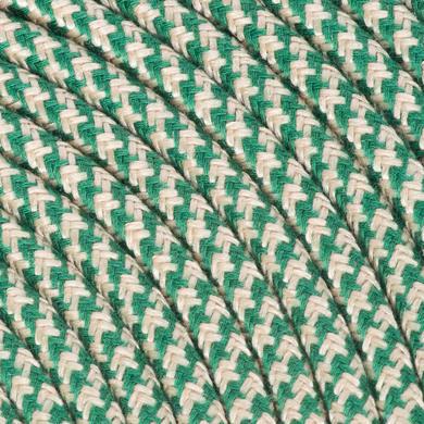 Cavo tessile MERLOTTI 2 fili x 0,75 mm² sabbia,verde 5 metri