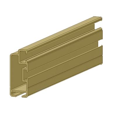 Profilo Sistema in alluminio 2.5 m x 2.5 cm bronzo