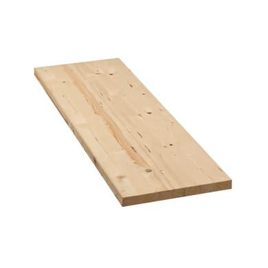 Tavola legno lamellare abete 100 x 30 cm Sp 18 mm
