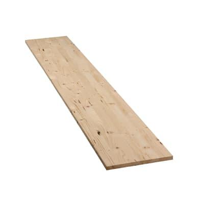 Tavola compensato di legno abete L 200 x H 40 cm Sp 18 mm