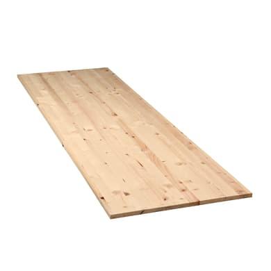 Tavola legno lamellare abete 200 x 60 cm Sp 18 mm