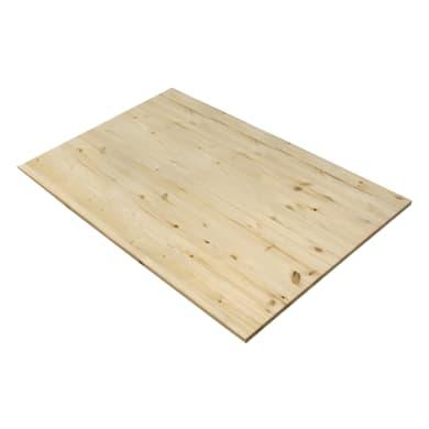 Tavola legno lamellare pino L 120 x H 80 cm Sp 18 mm