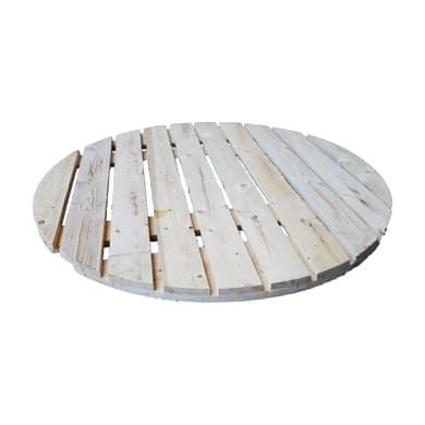 Piano tavolo tondo in abete grezzo 44 mm Ø 1200 mm