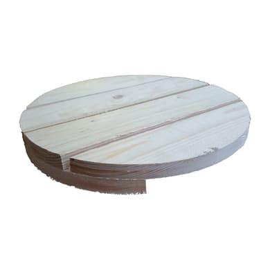 Piano tavolo tondo in abete grezzo 44 mm Ø 400 mm