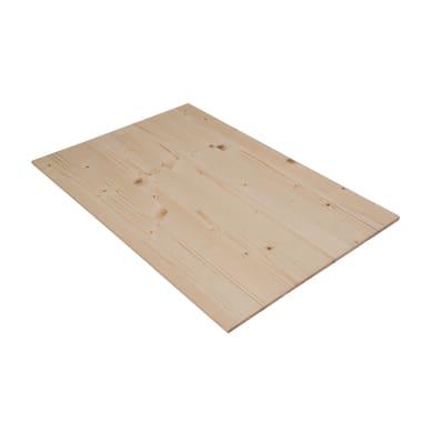 Tavola compensato di legno abete 1° scelta L 60 x H 40 cm Sp 7 mm