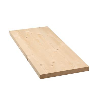 Tavola legno lamellare abete 1° scelta 80 x 30 cm Sp 27 mm