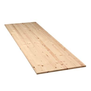 Tavola legno lamellare abete 200 x 60 cm Sp 28 mm