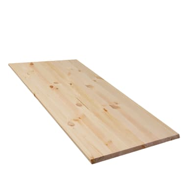 Tavola compensato di legno pino 1° scelta L 80 x H 30 cm Sp 18 mm