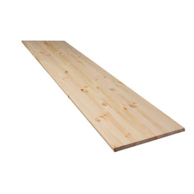 Tavola compensato di legno pino 1° scelta L 200 x H 40 cm Sp 18 mm