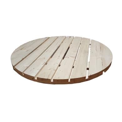 Piano tavolo tondo in abete grezzo 44 mm Ø 1000 mm