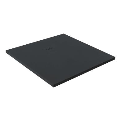Piatto doccia ultrasottile resina Cosmos Stone 75 x 100 cm nero