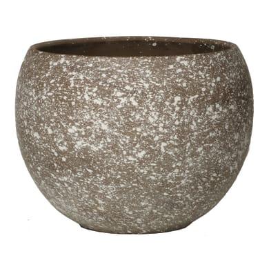 Vaso in terracotta colore marrone H 9 cm, Ø 12 cm