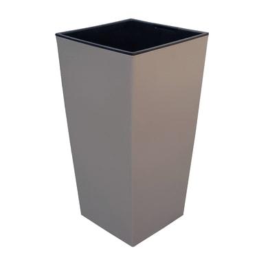 Vaso PROSPERPLAST in polipropilene colore sabbia H 61 cm, L 32.5 x P 32.5 cm