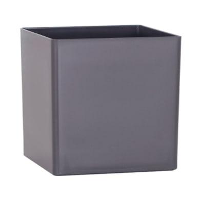 Vaso ARTEVASI in polipropilene colore antracite H 13.5 cm, L 13.5 x P 13.5 cm