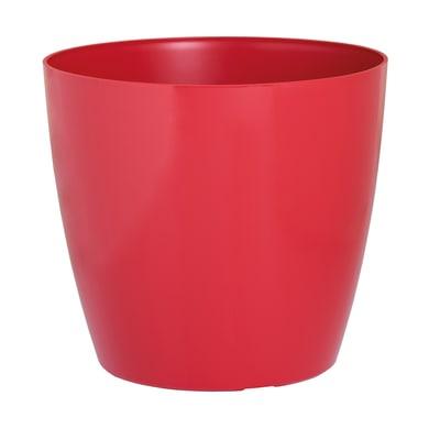 Vaso PROSPERPLAST in polipropilene colore rosso H 27.3 cm, P 30 cm Ø 30 cm