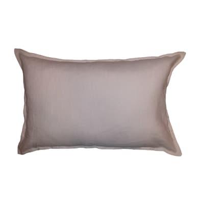 Cuscino Lino rosa perla 60x