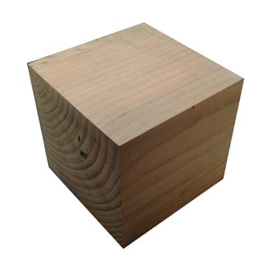 Sagoma decorativa cubo in abete grezzo 150 x 150 x 150 mm
