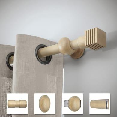 Supporto singolo chiuso Ø28mm Atelier in legno beige verniciato14 cm