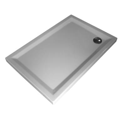 Piatto doccia acrilico rinforzato fibra di vetro Houston 80 x 100 cm bianco
