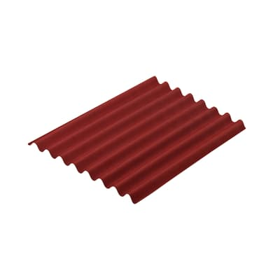 Lastra ondulata ONDULINE Easyline in bitume 76 x 100 cm, Sp 2 mm rosso