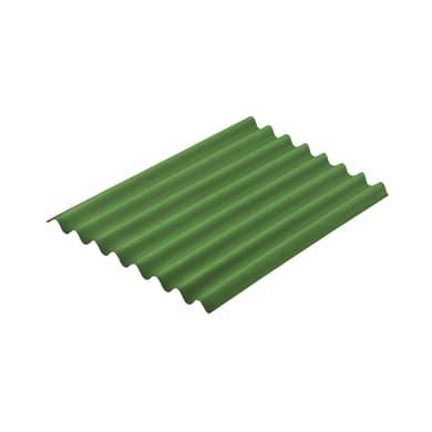 Lastra ONDULINE Easyline in bitume 76 x 100 cm, Sp 2.6 mm verde