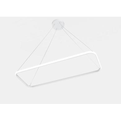Lampadario Contemporaneo Nata LED integrato bianco, in alluminio, L. 80 cm