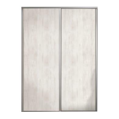 Ante scorrevoli Baltimora in mdf effetto legno L 120 x H 270 cm