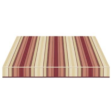 Tenda da sole a caduta con bracci TEMPOTEST PARA' L 3 x H 2.5 m Cod. 5011/11 marrone, beige, rosso, bordeaux