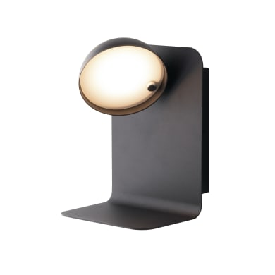 Applique BOING LED integrato nero, in metallo, 14 cm,