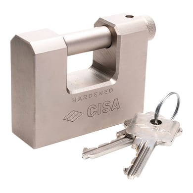 Lucchetto con chiave CISA Corazzato ansa H 17.5 x L 18 x Ø 14 mm