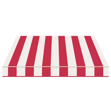 Tenda da sole a bracci estensibili manuale TEMPOTEST PARA' L 2.4 x H 2 m Cod. 35 rosso e avorio