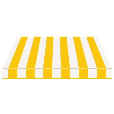 Tenda da sole a bracci estensibili manuale TEMPOTEST PARA' L 2.4 x H 2 m Cod. 37 giallo e avorio