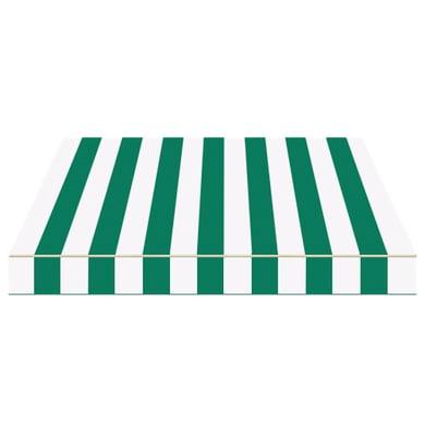 Tenda da sole a bracci estensibili manuale TEMPOTEST PARA' L 2.4 x H 2 m Cod. 384 avorio e verde