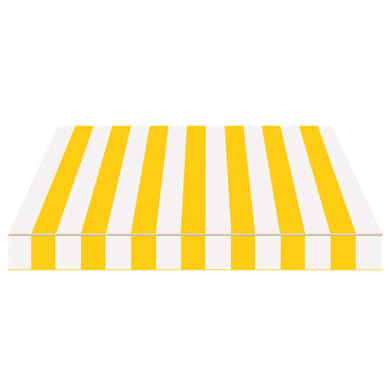 Tenda da sole a bracci estensibili manuale TEMPOTEST PARA' L 2.4 x H 2 m Cod. 398 avorio e giallo