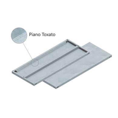 Set di 4 pezzi, Mensola LMIT L 100 x H 12 x P 0.5 cm grigio zincato
