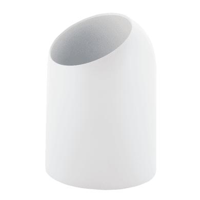 Pattumiera da bagno manuale bianco 7 Lin plastica