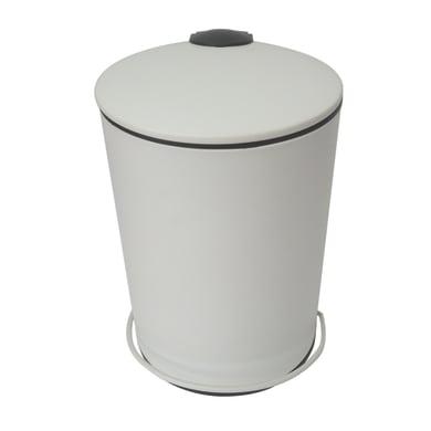 Pattumiera da bagno a pedale icone SENSEA bianco 3 Lin metallo