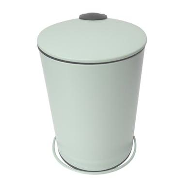 Pattumiera da bagno a pedale icone SENSEA verde 5 Lin metallo