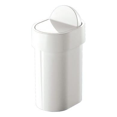 Pattumiera da bagno a ribalta GEDY bianco 5 Lin plastica