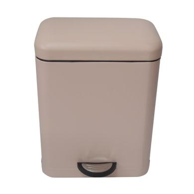 Pattumiera da bagno a pedale smart SENSEA rosa 5 Lin metallo