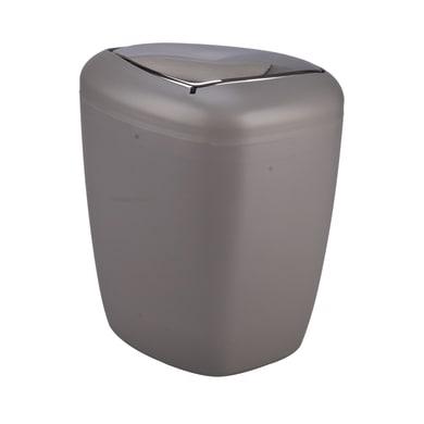 Pattumiera da bagno manuale stone grigio 6 Lin plastica
