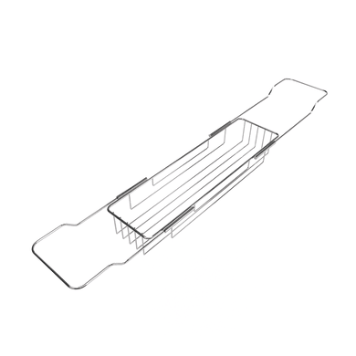 Mensola Traversa porta oggetti estensibile 1 ripiano cromo lucido