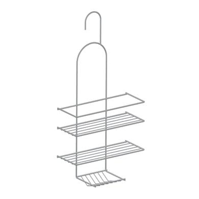 Vassoio box doccia e cabina doccia con gancio 3 ripiani acciaio