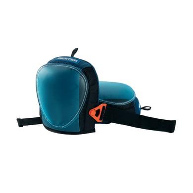 Ginocchiere DEXTER in tessile e guscio pvc regolabile blu e nero