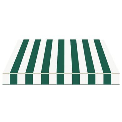 Tenda da sole a bracci estensibili manuale TEMPOTEST PARA' L 2.4 x H 2 m Cod. 428 avorio e verde