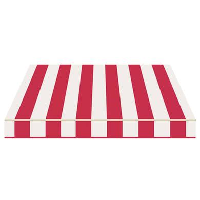 Tenda da sole a bracci estensibili manuale TEMPOTEST PARA' L 2.4 x H 2 m Cod. 437 rosso e avorio