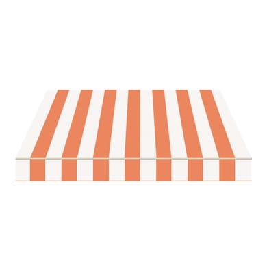Tenda da sole a bracci estensibili manuale TEMPOTEST PARA' L 2.4 x H 2 m Cod. 457 arancione e avorio